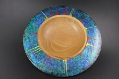 Beech platter with iridescent surround