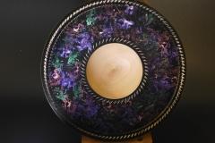 Sycamoe platter with iridescent rim